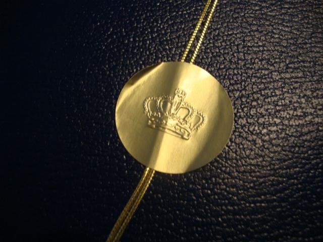 Detalhe do selo real